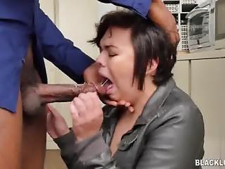 White Girl Takes A Black Load
