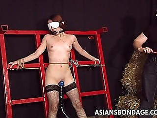 Slender Oriental Honey In A Sexy And Wicked Sadomasochism Fuck In Slavery