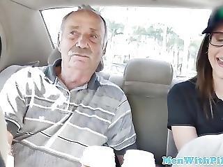Tattooed Teen Amateur Cocksucking Old Man