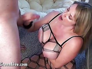 Big Titty Maggie Fucks In Body Stocking
