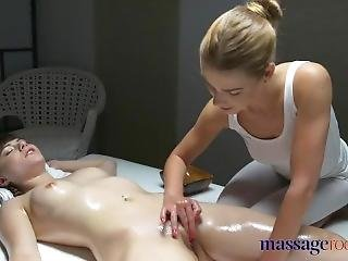 Massage Rooms Perfect Feet French Teen Lesbian Has Deep Sensual Orgasm