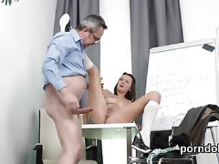 Elegant Schoolgirl Is Teased And Nailed By Her Senior Teacher