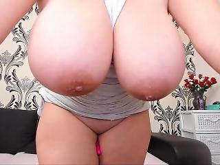 amateur, gros téton, blonde, seins, dentelle, masturbation, solo, webcam