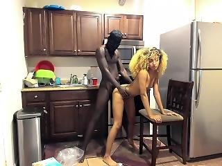 Step Sister Fucks Step Brother In The Kitchen After Parents Fall Asleep