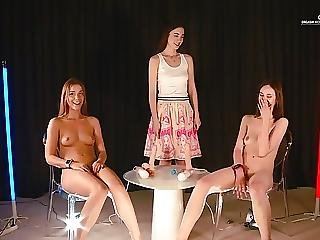 Orgasm World Championship Skinny Teens Alexis Crystal And