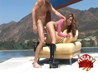 Poolside Anal Fucking With Keeani Lei