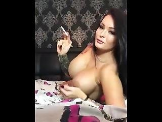 Charley Atwell - Naked Smoke On The Bed