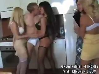 Two Young Guys And Four Euro Milf Sluts