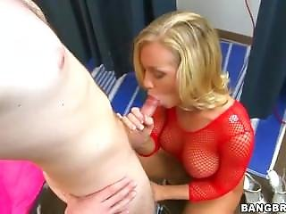 Blonde, Blowjob, Cream, Creampie, Dress, Fucking