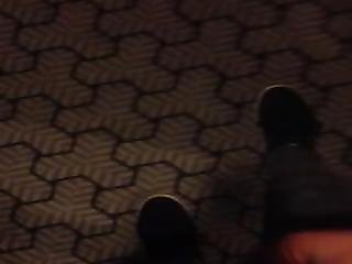 Pissing One The Hotel Carpet By The Elevators