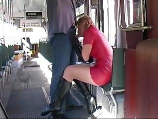 Gloves Blowjob In Tram