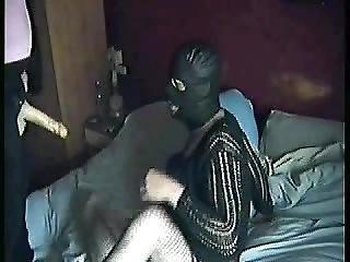Masked Boyfriend Sucking Shit Off My Strap-on Dildo