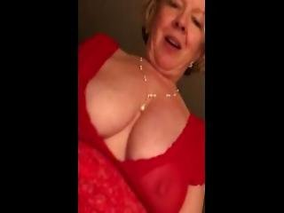 Slut Wife Red Dress Wants To Go Back To Adult Theater N Have The Guys Fuck Her In The Ass