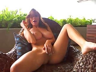 Fingering My Hot Tight Pussy On The Patio