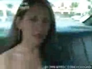 Cute Girl Giving Cop Blowjob