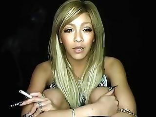 Lena Long Nails And A Cigarette