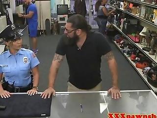 Real Latina Pawnshop Police Amateur Fucked