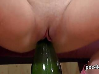 Perfect Kitten Is Pissing And Pleasing Shaved Snatch