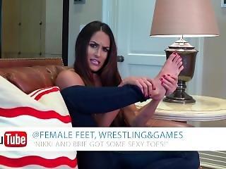 Nikki Bella Shows & Talks About Her Feet