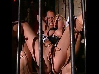 Unleashed Blonde Slave Brutal Fucked In A Jail