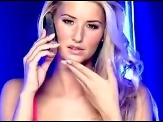 chick, dikke tiet, blonde, engels, roze, solo, zwempak