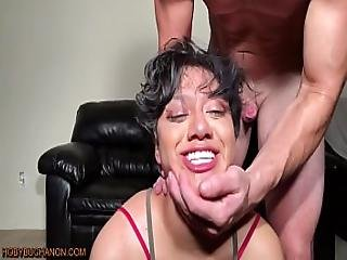 19 Year Old Amateur Lulu Face Fucked And Slapped