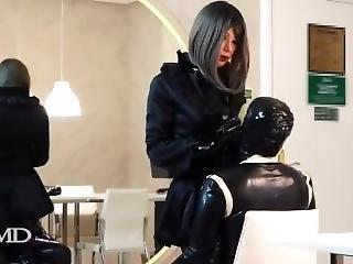 Female Mask Teasing