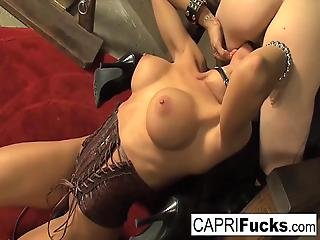 Cadence St John Joins Capri As They Play In A Dark Dungeon