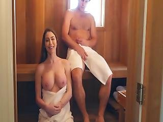 With Sexy Milf In Sauna