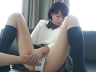 Cute School Girl Cream Pie