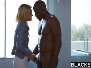 Big Black Cock, Black, Blonde, Blowjob, Cowgirl, Dick, Doggystyle, Gagging, Heels, Interracial, Lingerie, Squirt