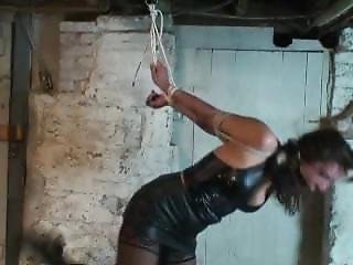 Brutally Tied In Leather Mini Dress