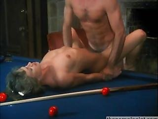 Hot Skinny Blonde Fucked On Pool Table In 80s Retro Porn Movie