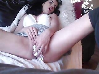 Fantastic Lady Play With A Dildo Stuck In Her Ass - Www.slut-roulette.webca
