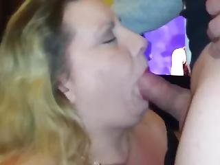 Mature Gags Hard On Young Cum
