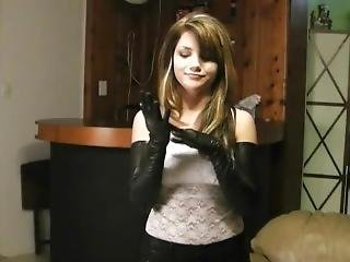 fetish, handschoenen, solo