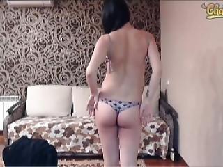 Sexy 40 Weeks Pregnant Mikki Striptease On Last Stream