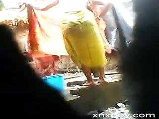 Tamil Son Capturing His Mom Bathing And Make Conversation V