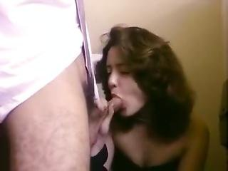 Hillary Summers, Rick Iverson In Extremely Hot Classic Porn Scene In A Toilet Stall