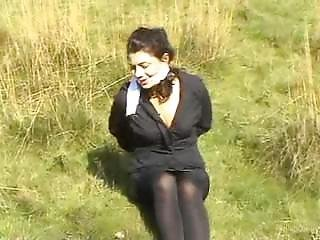 Tied Up And Gagged Outside 1