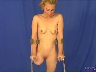 Amputees Nude On Crutches