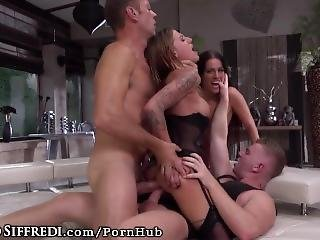 Rocco Siffredi Delivers Double Anal Punishment To Naughty Sluts