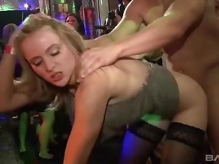 Nightclub Blondie Suck And Fuck Male Strippers