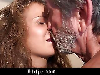 18 Curly Cutie Teen And 76 Old Granppa Nasty 69