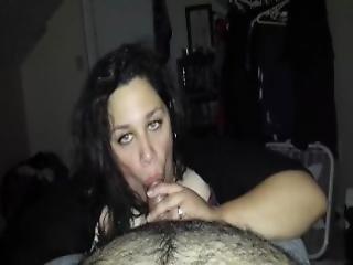 amatoriale, bbw, pompini, poppe, gola profonda, cappello, casa, fatto in casa, milf, orale, succhia