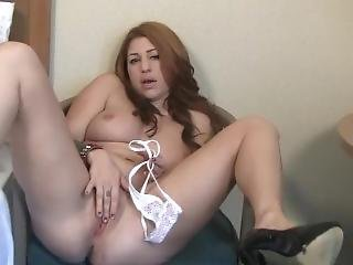 Latina Masturbating & Stuffing Pussy - Home Made Porn - Panty Stuffing