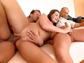 Threesome Multiple Creampie For Milf