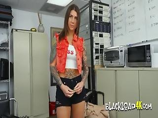 Cock Hungry Slut Seduces Casting Director Into Giving Her His Load Of Bbc