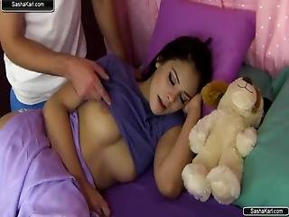 Sleeping Step Sister Gets Fucked By Horny Brother
