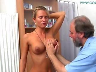 Blond, Doktor, Gyno, Medicinsk, Sex, Glas, Trekant, Vaginal